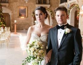 Hé lộ ảnh cưới lãng mạn của ngôi sao phim Mỹ