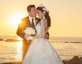 """Ngọc Quyên """"khoe"""" clip đám cưới lung linh"""