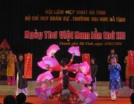 Hà Tĩnh:  Kỷ niệm Ngày thơ Việt Nam lần thứ XII