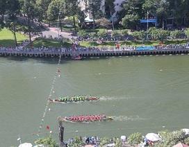 """Tưng bừng lễ hội đua thuyền trên dòng kênh mới """"hồi sinh"""""""