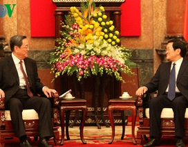 Chủ tịch nước Trương Tấn Sang tiếp Chủ tịch Chính hiệp T.Ư Trung Quốc
