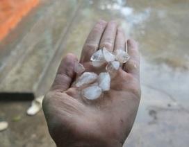 Mưa đá xuất hiện ở Thanh Hóa