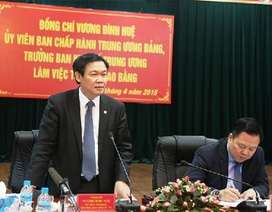 Trưởng Ban Kinh tế Trung ương làm việc với Cao Bằng và Lạng Sơn
