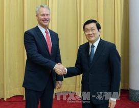 Chủ tịch nước Trương Tấn Sang tiếp Chủ tịch hãng thông tấn AP