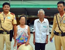 CSGT tìm người nhà cho người phụ nữ tâm thần đi lạc lên Hà Nội