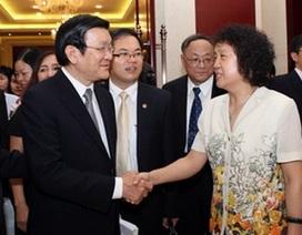 Chủ tịch nước gặp gỡ nhân sỹ, trí thức Trung Quốc
