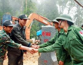Việt-Lào hoàn thành tăng dày, tôn tạo mốc biên giới