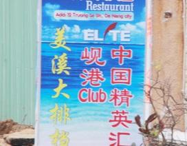 Xử lý nhà hàng, khách sạn in biển hiệu chữ Trung Quốc sai quy định