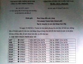 Giả mạo văn bản Viettel tung tin kéo dài đầu số di động