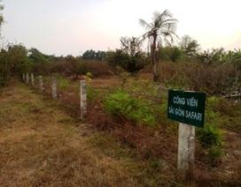 """Công viên lớn nhất Việt Nam như... """"cánh đồng hoang"""""""