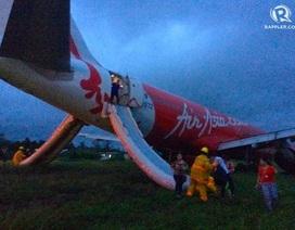Máy bay AirAsia trượt khỏi đường băng tại Philippines