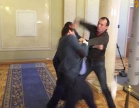 Nghị sỹ Ukraine đánh nhau ngay tại đại sảnh quốc hội