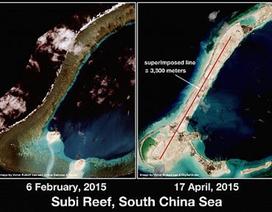 Trung Quốc có thể xây đường băng trên bãi đá Xu Bi