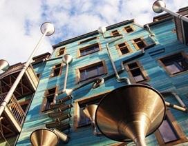 Thú vị tòa nhà phát ra nhạc mỗi khi trời mưa