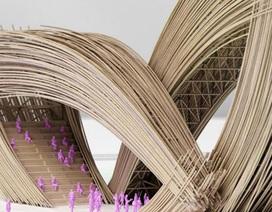Kiến trúc mềm mại của công trình lấy ý tưởng từ thư pháp