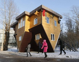 Lạ lẫm trước kiến trúc của những ngôi nhà lộn ngược