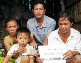 """Hơn 68 triệu đồng đến với """"nhà có 3 người..đau khổ"""""""
