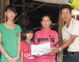 Hơn 41 triệu đồng đến với 2 chị em mất cha vì bệnh thế kỷ