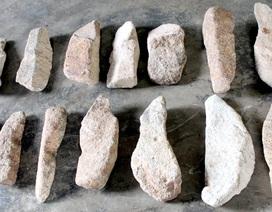 Phát hiện 14 thanh đá nghi giống với đàn đá Tuy An