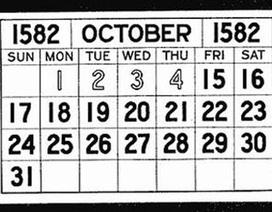 Phát hiện thú vị: lịch tháng 10 năm 1582 có 10 ngày không tồn tại