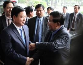 Bí thư Đinh La Thăng hội đàm với Thủ tướng Campuchia Hun Sen