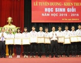 Hà Tĩnh: Khen thưởng học sinh giỏi năm học 2015 - 2016