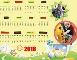 Tự tạo bộ lịch 2016 đẹp mắt từ hình ảnh của chính bạn