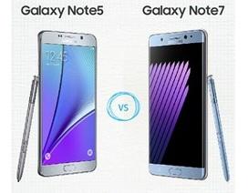 Đọ cấu hình Galaxy Note7 cùng loạt smartphone cao cấp trên thị trường