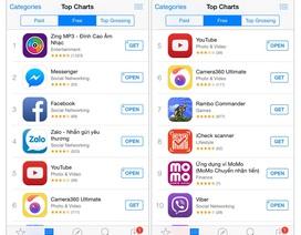 MoMo vào TOP 10 ỨNG DỤNG MIỄN PHÍ trên Apple Store Việt Nam