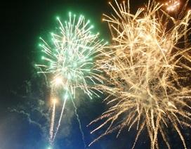 Ninh Bình bắn pháo hoa mừng xuân 2016