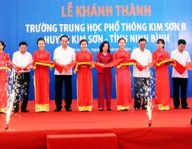 Khánh thành trường cấp 3 nơi Chủ tịch nước Trần Đại Quang từng học tập