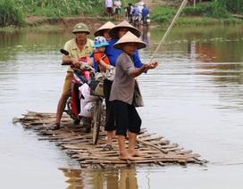 """Người dân """"nín thở bám dây thừng qua sông"""" sắp được xây cầu"""