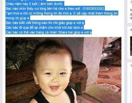 Đang làm rõ vụ cháu bé 2 tuổi nghi bị bắt cóc