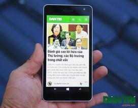 Microsoft tung bản sửa lỗi cảm ứng dành cho Lumia 535 vào cuối tháng 12