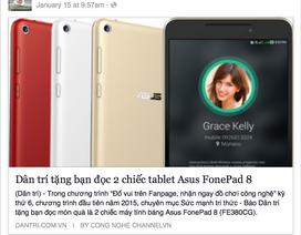 Công bố 2 bạn đọc may mắn trúng thưởng chiếc tablet Asus FonePad 8