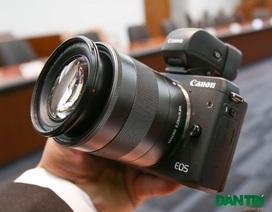 Cận cảnh máy ảnh không gương lật Canon EOS M3 mới nhất