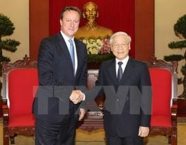 Tổng Bí thư Nguyễn Phú Trọng tiếp Thủ tướng Anh David Cameron