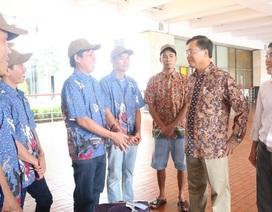Ngư dân Việt bị giam giữ tại Indonesia được hồi hương đón Tết