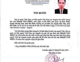 Thêm 2 người Việt Nam tử vong tại Angola