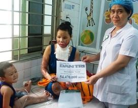 Gần 55 triệu đến với 2 mẹ con bị di chứng nặng do bỏng