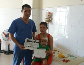 Gần 35 triệu đồng đến với bé 2 tuổi bị ung thư bạch cầu cấp dòng tủy