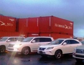 """Tịch thu, sung quỹ 5 xe Lexus """"bỏ rơi"""" tại cảng Đà Nẵng"""