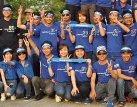 Giới trẻ đạp xe diễu hành hưởng ứng Giờ trái đất 2016