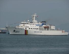 Tàu huấn luyện của lực lượng Bảo vệ bờ biển Hàn Quốc thăm Đà Nẵng