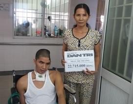 Hơn 22 triệu đồng đến với chàng trai nằm một chỗ sau tai nạn giao thông