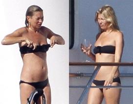 Siêu mẫu Kate Moss nóng bỏng với bikini sau tin bỏ chồng