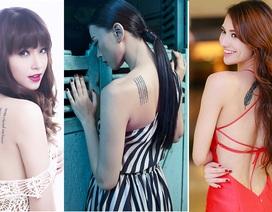 Những hình xăm độc của mỹ nhân Việt