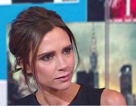 Victoria Beckham xuất hiện buồn bã trên sóng truyền hình