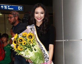 Hà Thu lên đường tham gia đấu trường nhan sắc Miss Intercontinental 2015