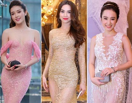 """Những bộ váy xuyên thấu """"không thể rời mắt"""" của sao Việt"""